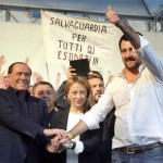 Salvini e Berlusconi a Bologna