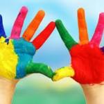 i bambini e i colori