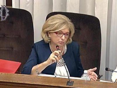 L'assessore alla sostenibilità ambientale, Paola Muraro, durante l'audizione a San Macuto in Commissione Ecomafie, Roma, 5 settembre 2016. ANSA / WEB TV CAMERA DEPUTATI - FRAME VIDEO