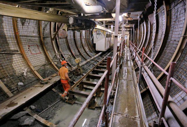 Chiomonte 15/02/2017: cantiere del tunnel geognostico della Maddalena                         fotografia di Michele